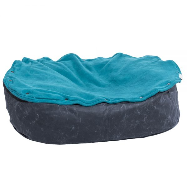 Eco-friendly pet bed ash turquoise 1