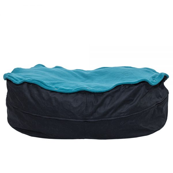 Eco-friendly pet bed orca turquoise back