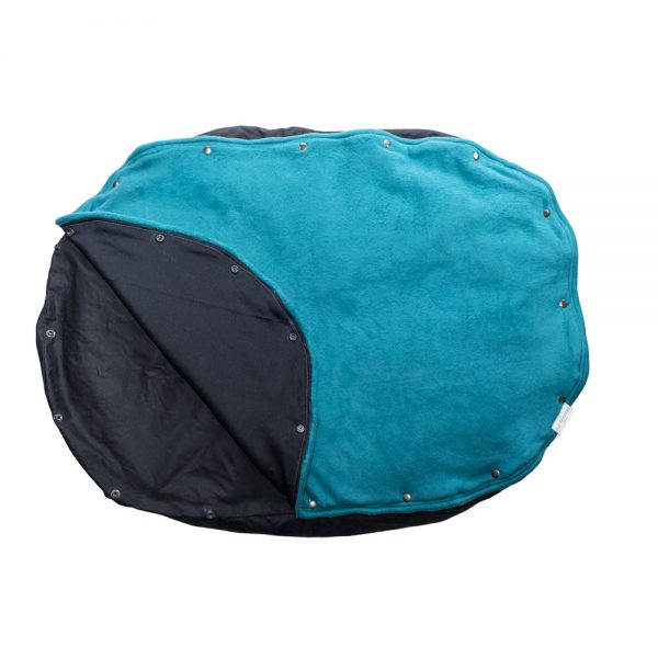 Eco friendly pet bed orca turquoise top